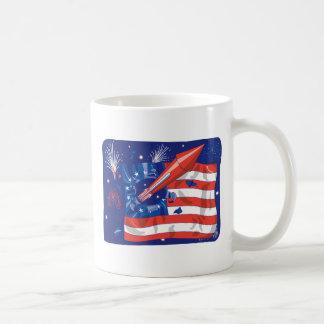 American Fireworks Classic White Coffee Mug
