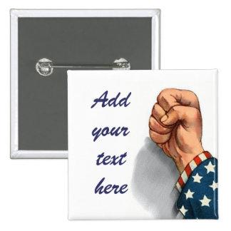 American Fist Pinback Button