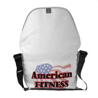 American Fitness Worker Courier Bag