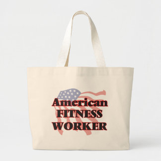 American Fitness Worker Jumbo Tote Bag