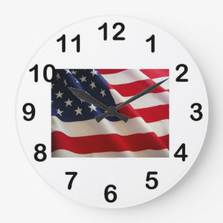 American Flag2 Wall Clock