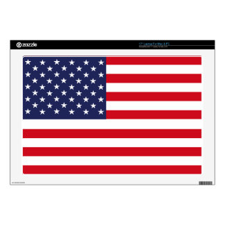 "American flag 17"" laptop decal"