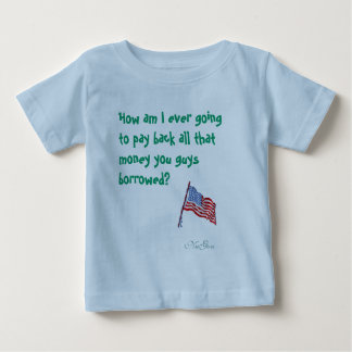 american-flag-1, How am I ever going to pay bac... Tshirts