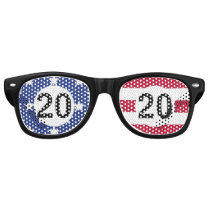American Flag 2020 Patriotic Party Glasses
