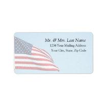 American Flag 2412 Address Label