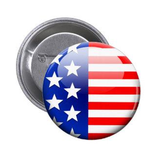 American Flag 2.0 2 Inch Round Button