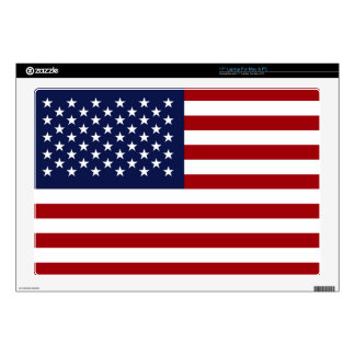 "American Flag 2 Decals For 17"" Laptops"
