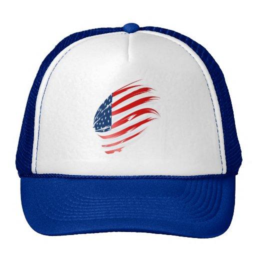 American Flag-2 Hats
