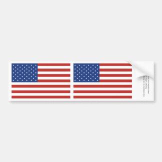 American Flag 2-in-1 Bumper Sticker