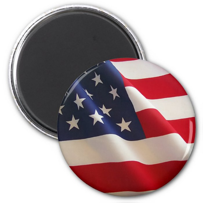 American Flag 2 Inch Round Magnet
