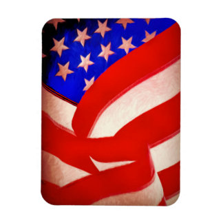 "American Flag 3""x4"" Photo Magnet"