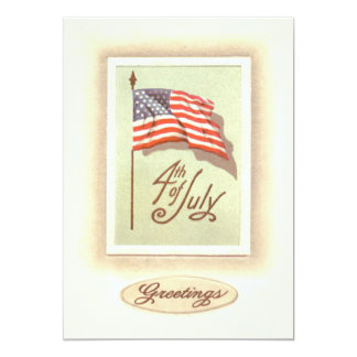 American Flag 4th of July Card