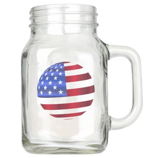 American Flag, 4th of July Country Mason Jar