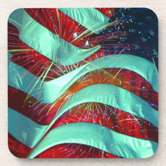 American Flag 4th of July Drink Coaster