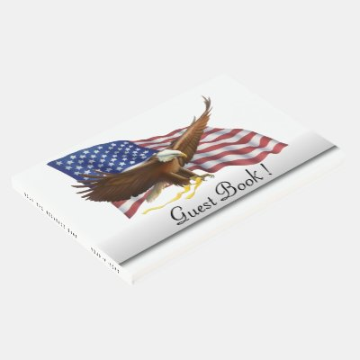 American Flag 4th of July Guest Book