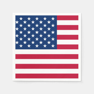 American Flag 4th of July Paper Napkin Set