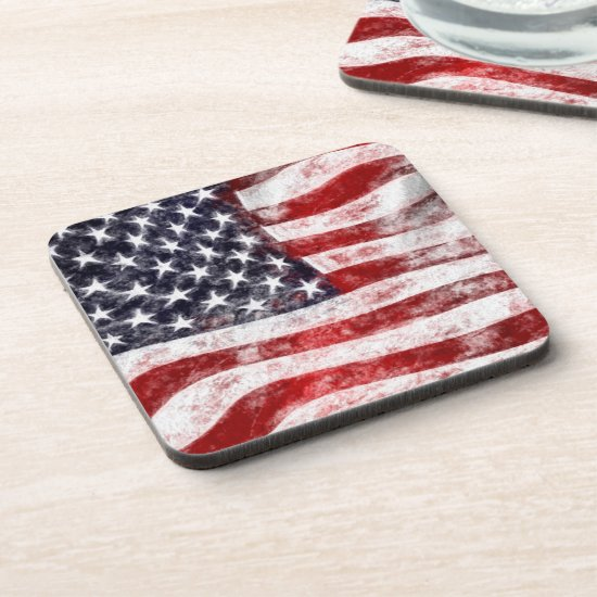 American Flag, 4th of July Set of Coasters