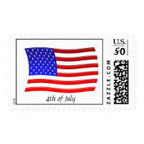 American Flag, 4th of July Stamp Template
