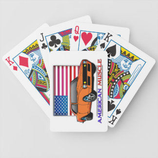 American Flag 60s Muscle Car Playing Cards