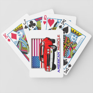 American Flag 70s Muscle Car Playing Cards