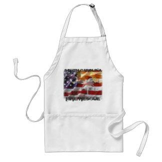 american_flag-971804-2, SOUTH CAROLINA, FIRE/RE... Adult Apron