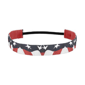 American Flag Abstract Athletic Headband