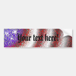 American Flag Abstract - Bumper Sticker