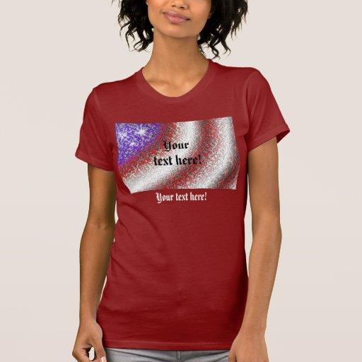 American Flag Abstract - Dark Shirts