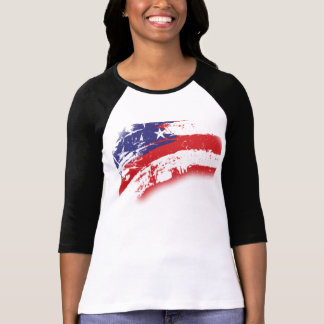 American Flag Abstract Distressed Tee Shirt