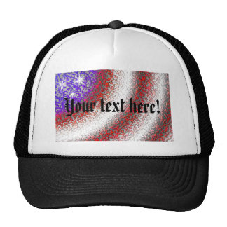 American Flag Abstract - Hats