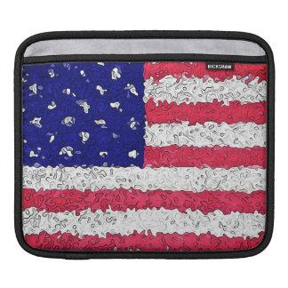 American Flag Abstract iPad Sleeve