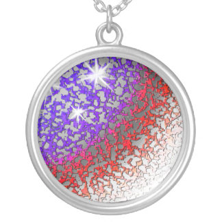 American Flag Abstract Necklace