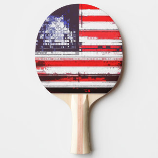 American Flag Abstract Ping-Pong Paddle