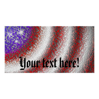 American Flag Abstract Poster