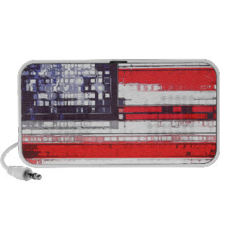 American Flag Abstract Notebook Speakers