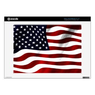 American Flag Acer Chromebook Skin