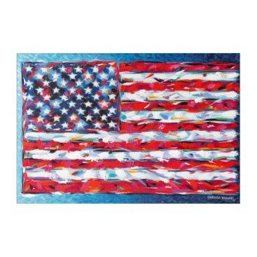 USA Themed American Flag Acrylic Wall Art
