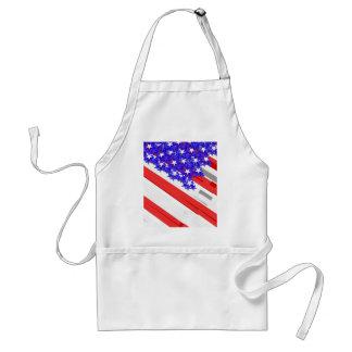 American flag adult apron