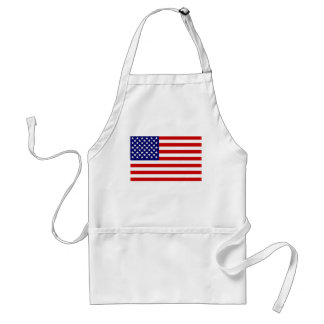 American flag adult apron