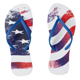 American flag Adult, Slim Straps Flip Flops