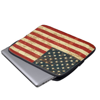 American Flag Aged Distressed Laptop Sleeves