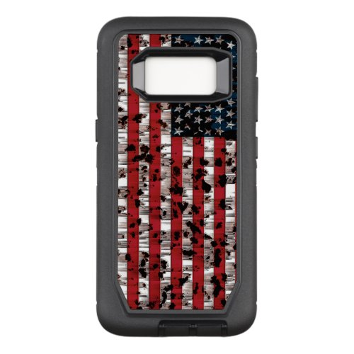 American Flag Aged Phone Case