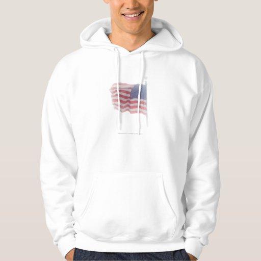 American Flag Aglow 2 Hoodie