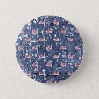 American Flag Aglow, star spangled pattern Pinback Button