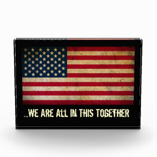 American Flag All In This Together Desk Sculpture Award