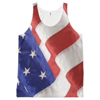 American Flag All-Over Printed Unisex Tank