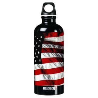 American Flag Aluminum Water Bottle