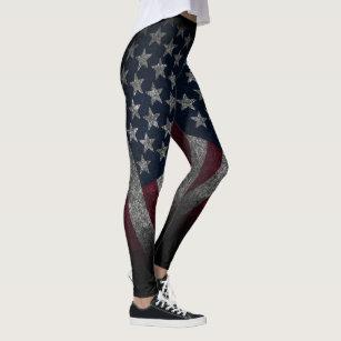 8db83e4589f6a7 American Flag, America, Patriotic, Old Glory, Yoga Leggings
