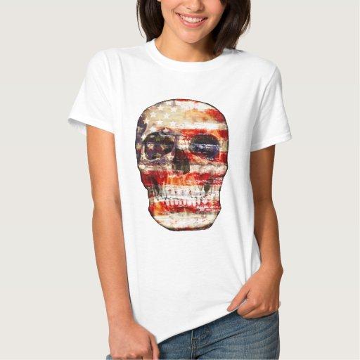 AMERICAN FLAG,american skull T Shirt