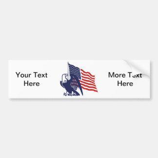 American Flag and Bald Eagle Bumper Sticker